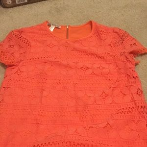 Beautiful laced pinkish orange dress